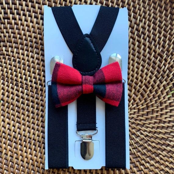 Buffalo Plaid Bow Tie, Buffalo Check Bow Tie, Red Bow Tie, Bow Ties for Men, Boys Bow Tie, Bow Tie, Suspenders, Toddler Bow Tie, Bow Ties