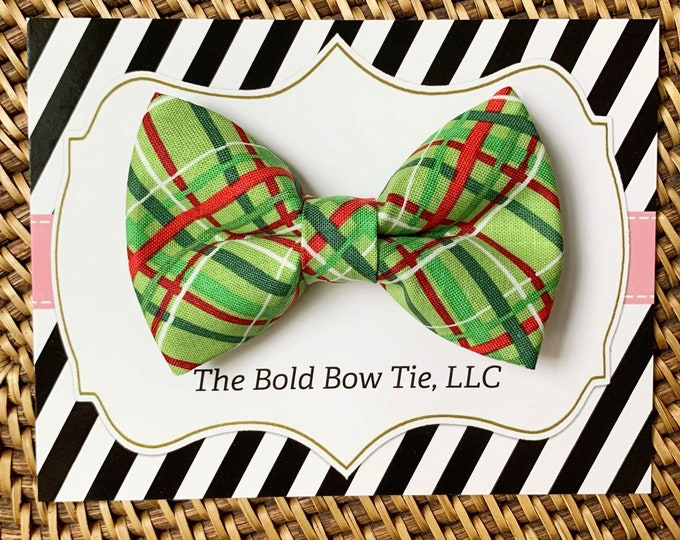Red & Green Dog Bow Tie, Bow Tie for Dogs, Cats, Pets, Bowtie, Bow Ties, Christmas Dog Bow Tie, Christmas Bow Tie, Cat Bow Tie, Accessories