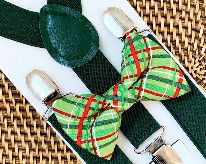 Christmas Bow tie, Christmas Outfit, Boys bow tie, Baby bow tie, Mens bow tie, 1st Christmas, Bow Tie for Men, Women, Kids- ALL SIZES