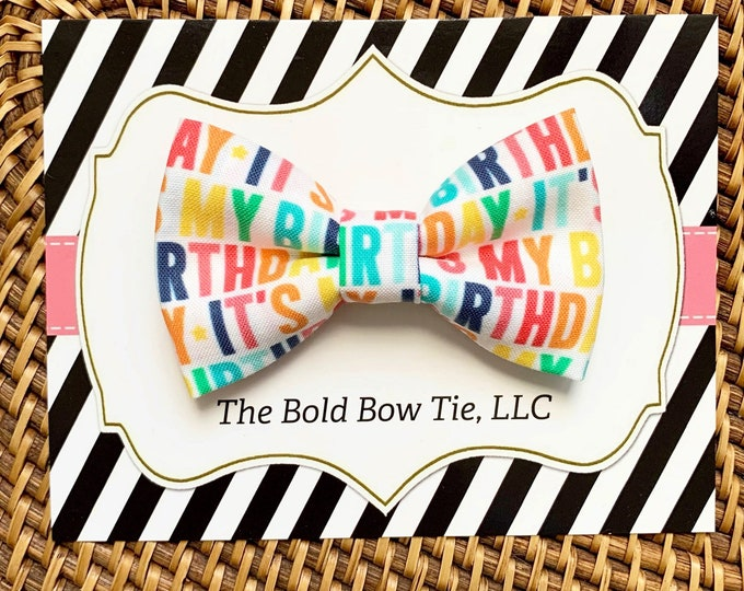 Birthday Dog Bow Tie, Bow Tie for Dogs, Cats, Pets, Bowtie, Bow Ties, Dog Bow Tie for Birthday, Dog Accessories, Dog Gift, Cat Gift
