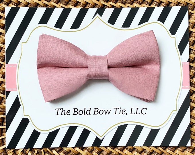 Dusty Rose Dog Bow Tie, Dog Bowtie, Dog Accessories, Dog gifts, Dog Wedding, Wedding Dog Collar, Dog Clothes, Dog Gift, Gifts for Dog Lovers