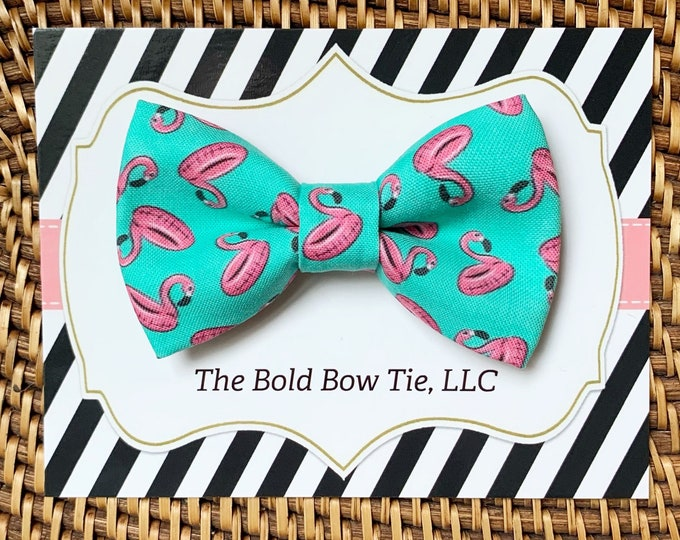 Summer Dog Bow Tie, Cat Bow Tie, Flamingo Bow Tie for Dogs, Cats, Bow Ties, Dog Bow Tie, Dog Accessories, Dog Birthday Gift, Dog Lover Gift
