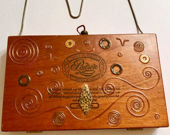 CLASSY PADRON~Signed & No. Cigar Box Purse~Unique, one of a kind, w. certificate '02~STUNNING