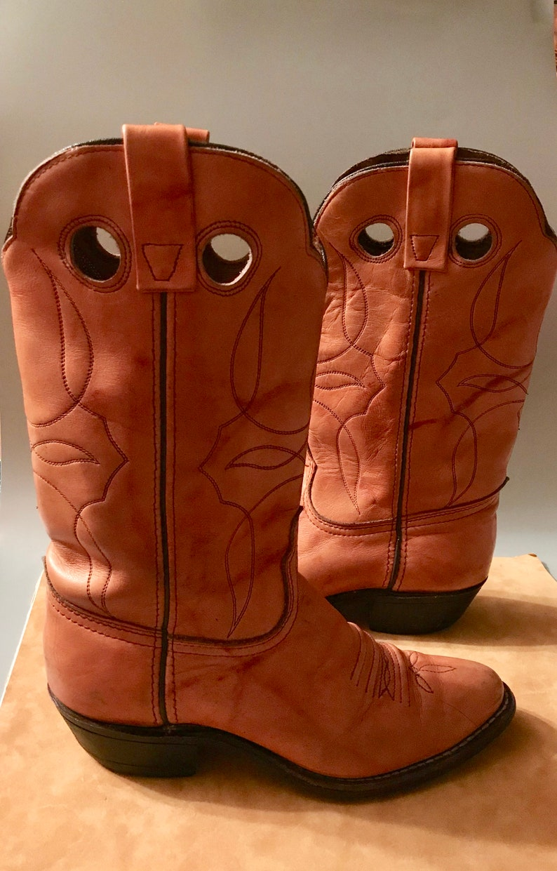 Tan All Leather Western Cowgirl Boots-Size 7M
