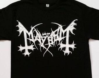 New † MAYHEM† - BLACK  - Unisex- Adult - T Shirt Sizes S-2XL