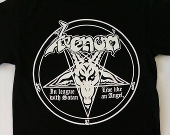 New † VENOM †  - BLACK  - Unisex- Adult - T Shirt Sizes S-2XL