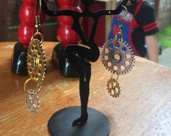 Steam Punk Gear Earrings