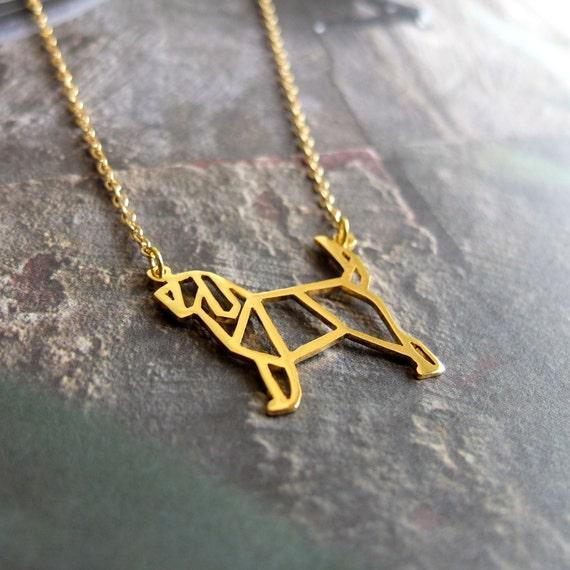 Otterhound  Gold Pendant
