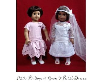 1920s Wedding Gown 18in Doll PDF ePattern DOWNLOAD