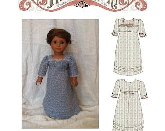 1812 Day Dress 18in Doll PDF ePattern DOWNLOAD