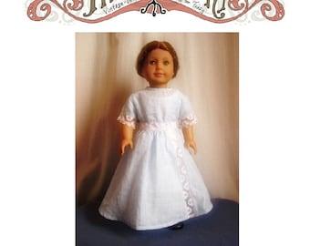 1912 Lace Insertion Dress 18in Doll PDF ePattern DOWNLOAD