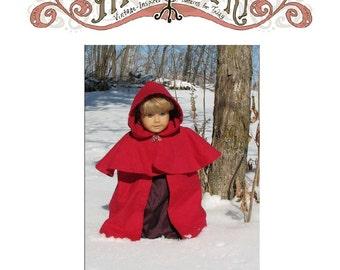 Hooded Cloak 18 in Doll PDF ePattern DOWNLOAD