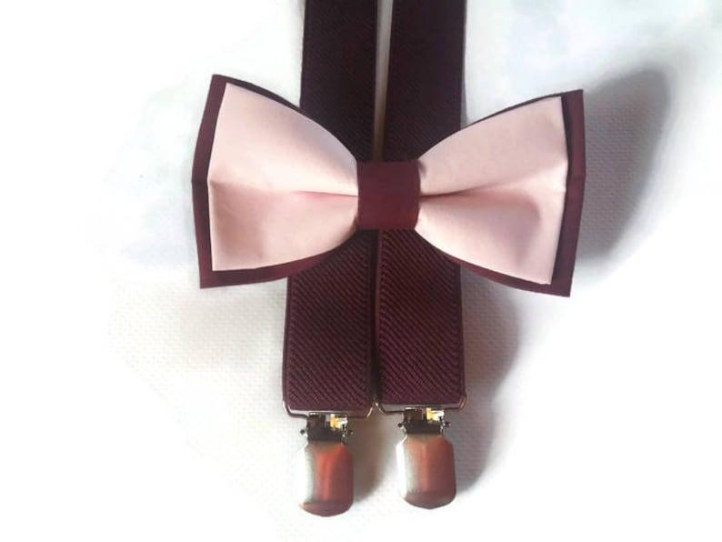 2bebdad2971b Burgundy blush bow tiewedding marsala pinkoutfit | Etsy