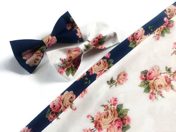 Brown pink floral suspenders /& matched bow ties for groomsmen and groom and ring bearers too