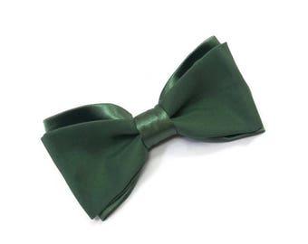 Greenery wedding satin olive green bow tie