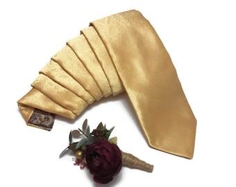 GOLDEN wedding tie,groomsmen bow ties,gold skinny tie,wedding boutonnieres,groom self tie bowtie,ring bearer outfit,goldbrocadeneckties