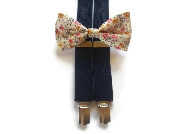 Men's Bowtie Floral Paisley Pattern Bow Tie Wedding Party Pearl Diamond Décor