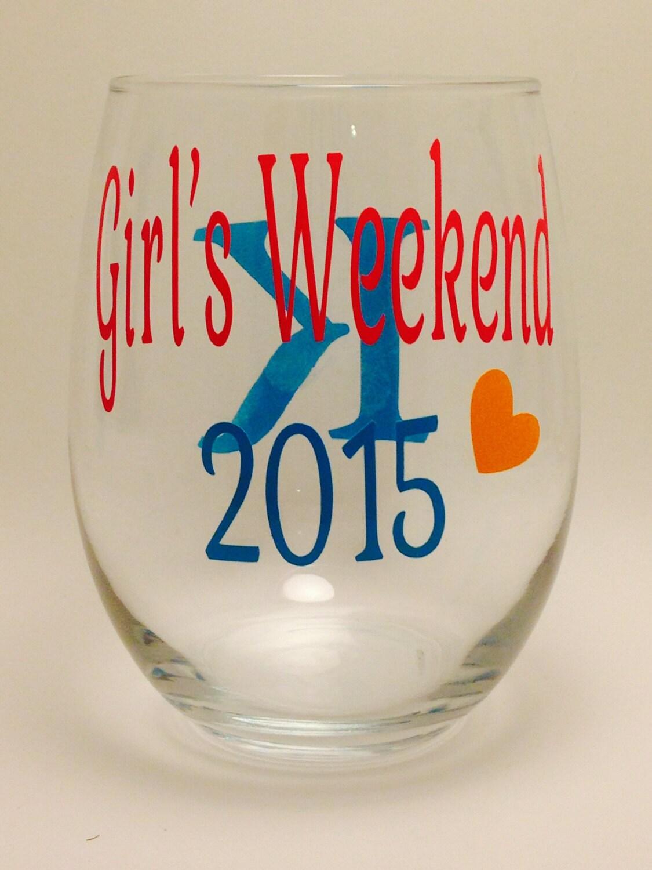 Mädchen Wochenende Wein Glas-beste Freunde-Wein-Glas Set von | Etsy