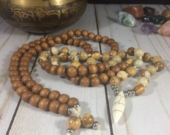 Men meditation mala men spiritual jewelry men yoga mala hand knotted mala knotted necklace meditation necklace knotted mala beads yoga beads
