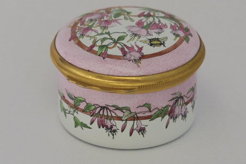 Halcyon Days Trinket Box Fuschia and Honey Bee