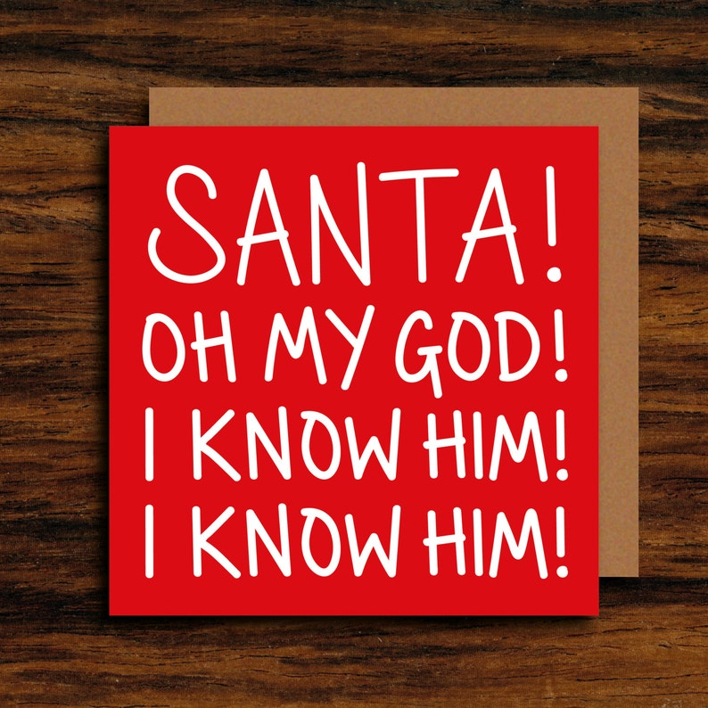 Funny Christmas Card  ELF Movie Quote Card  Santa Oh My image 0