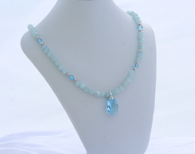 Aquamarine Gemstone Necklace