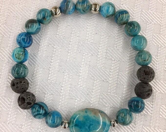 Aromatherapy Bracelet ~ Diffuser Bracelet Crazy Lace Agate
