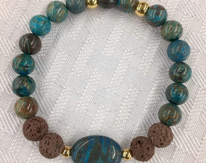 Aromatherapy Bracelet ~ Diffuser Bracelet Sky Blue Jasper