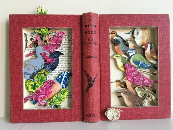 A Bird Book For The Pocket Book Art Sculpture De Livre Collage 3d Sculpture Birds Oiseaux Ornithology Nest Spring