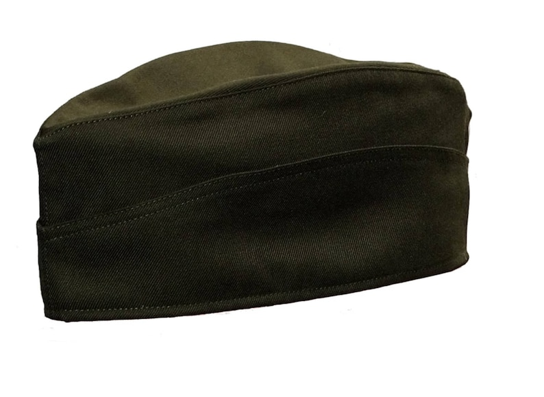 New Army Surplus Side Service Cap Green military cotton forage hat field cap