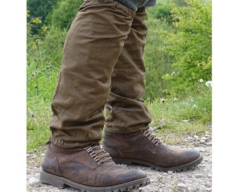 Genuine army canvas gaiters retro 1950s long spats cotton breathable olive NOS