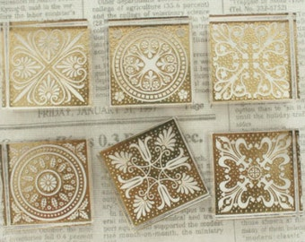 Crystal Square Lace Stamp--crystal flower stamp--6 style can be chosen