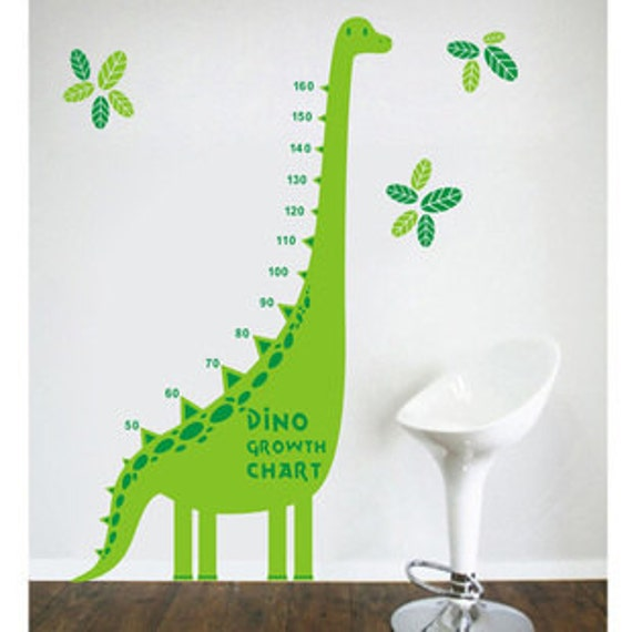 Double Color Dinosaurs Growth Chart Wall Decal Growth Chart Etsy
