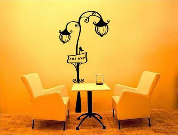 European street lamp wall decals,sitting room wall stickers,bedroom ...