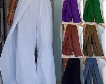 ee72f3eaf2e Z990 Layered Faux Wrap Elastic Waist Pant Stunning Rayon Made To Order  Lotustraders s m l xl 1x 2x 3x 4x 5x 6x