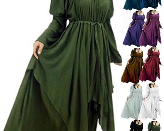 9287ad09cec Bohemian Peasant Dress - Layered Renaissance Women s Fashion - LotusTraders  - Gypsy Regular to Plus Sizes - G922 MTO