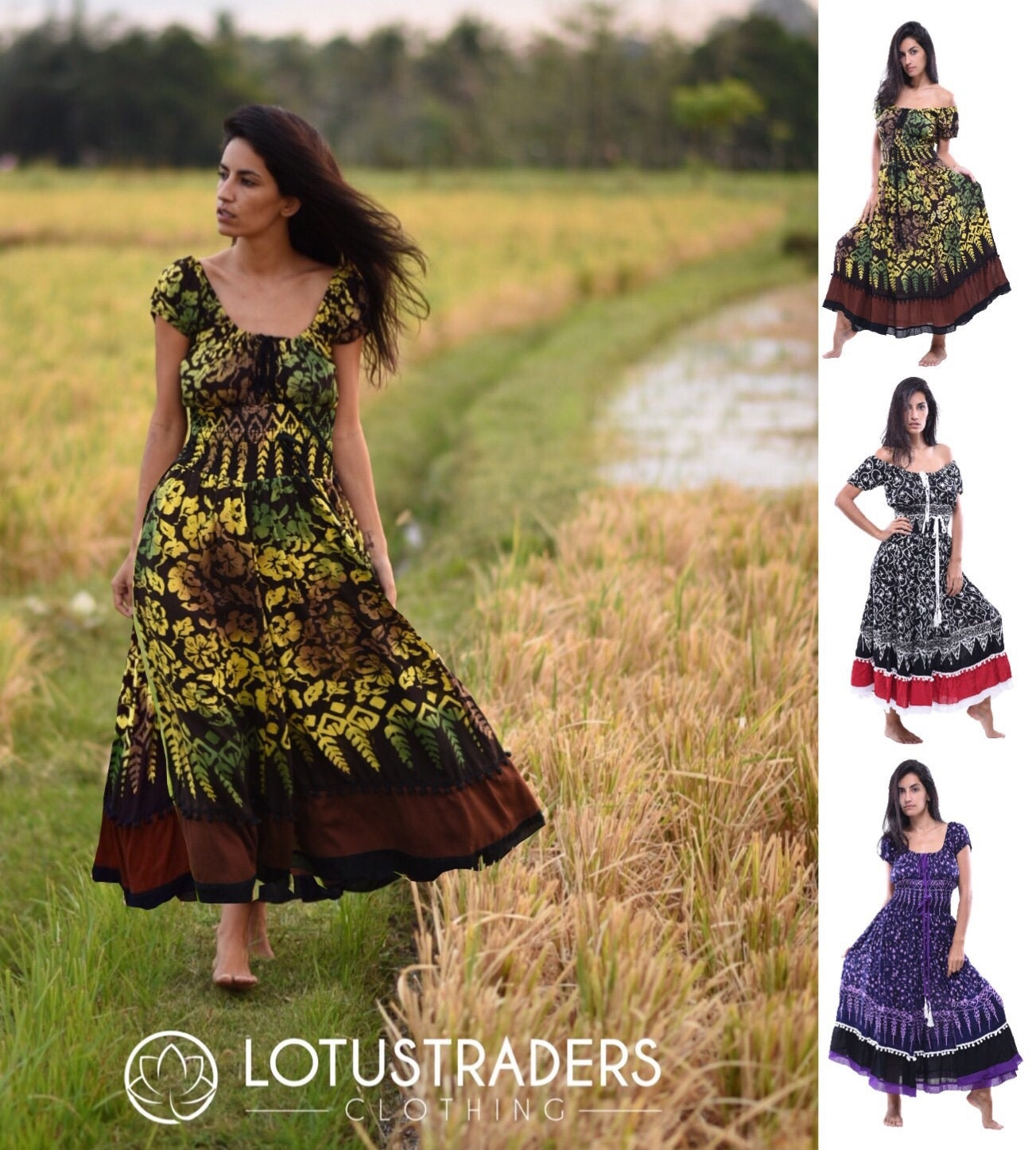 FASHION 3//4 LENGTH DRESS UNDER LONG MADE TO ORDER Y432 LotusTraders MIDI WOMEN