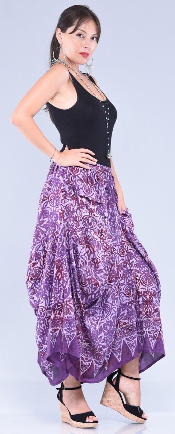 Empire Waistline LotusTraders S413 Bohemian Gypsy Dress Stretched Rayon Lycra