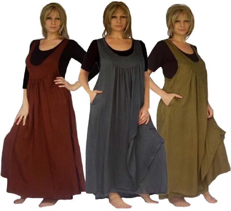 BoHo Maxi Jumper Dress - Plus Size Original Gorgeous Design Deep pocket -  Made to Order Q678 LotusTraders