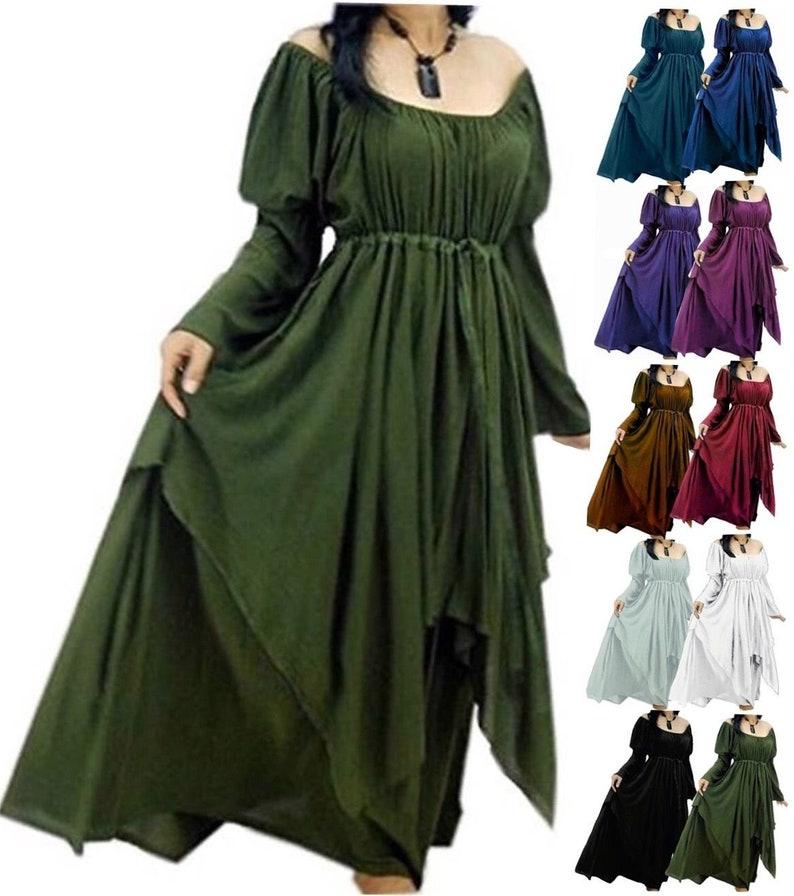 67cae04b6e6 Bohemian Peasant Dress Layered Renaissance Womens Fashion