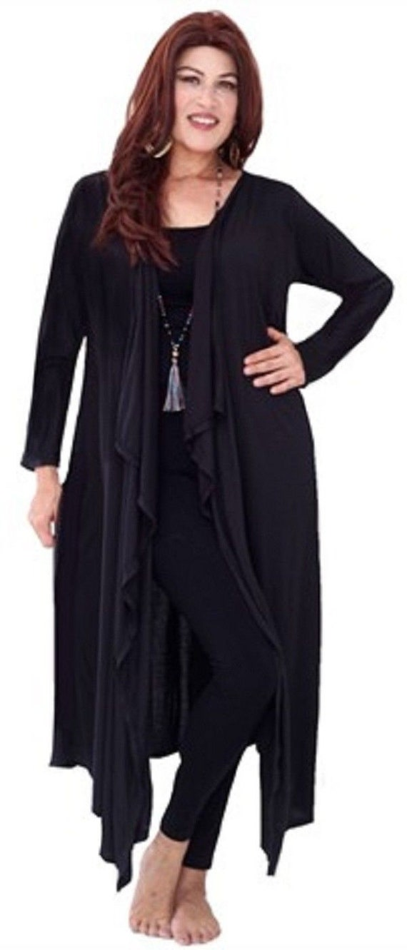 Made To Order B606 LotusTraders Front Button Down Bohemian Longline Shirt Top or jacket