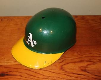 72fe20ec840 Vintage Sports Products Corp Plastic Baseball Batting Helmet-Oakland A s  Athletics