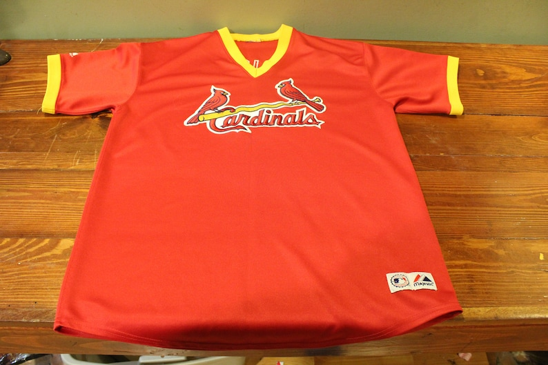 super popular 1310a 47f1a Vintage Majestic St Louis Cardinals Albert Pujols #5 Red Sewn Jersey MLB