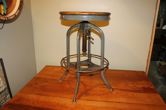 Fine Vintage Industrial Machine Age Toledo Bruning Drafting Stool Caraccident5 Cool Chair Designs And Ideas Caraccident5Info