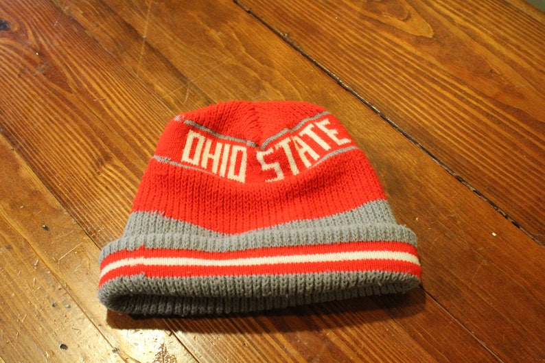cfe4fe61338 Ohio State Buckeyes Winter Cap Hat NCAA Scarlet Gray Red Adult