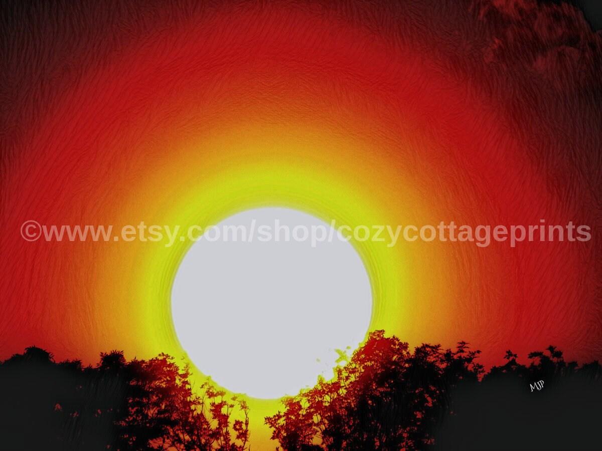 SUN SETTING PRINT Fine Art Photography Fine Art Prints Sun   Etsy