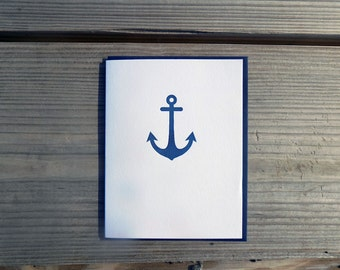 The Icon Collection: Anchor letterpress single card