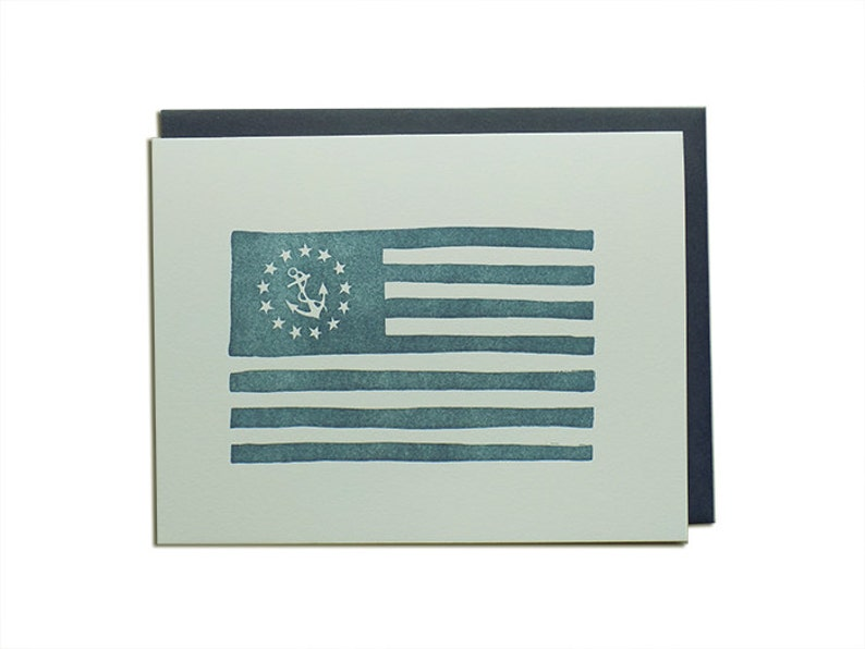 Nautical Flag Letterpress Card image 0