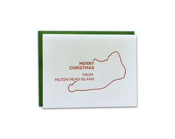 BOX OF 6 // Merry Christmas from South Carolina Letterpress Cards