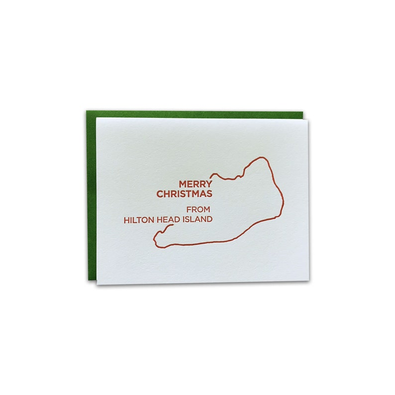 BOX OF 6 // Merry Christmas from South Carolina Letterpress image 0